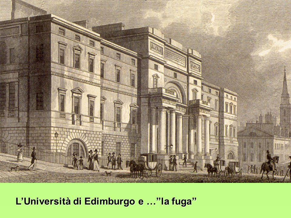 L'Università di Edimburgo e … la fuga