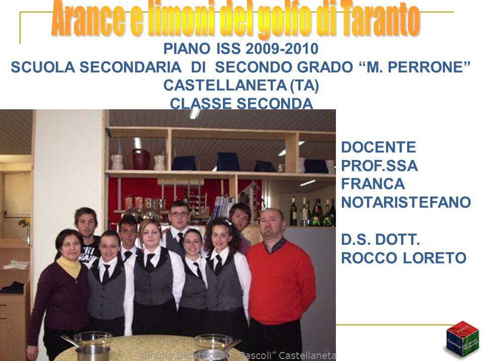 SCUOLA SECONDARIA DI SECONDO GRADO M. PERRONE CASTELLANETA (TA)