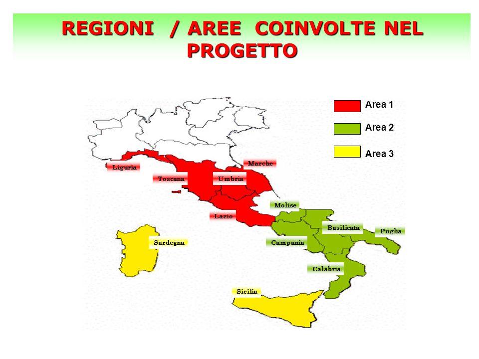 REGIONI / AREE COINVOLTE NEL PROGETTO