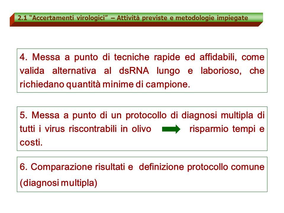 2.1 Accertamenti virologici – Attività previste e metodologie impiegate