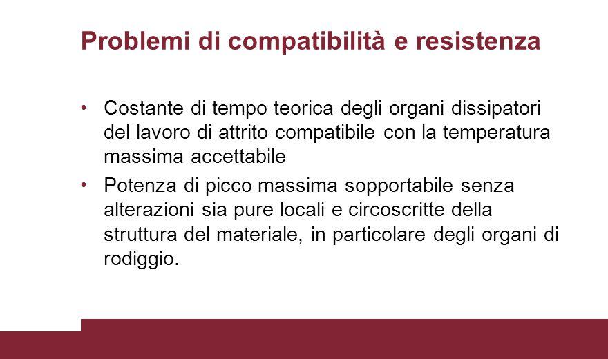 Problemi di compatibilità e resistenza