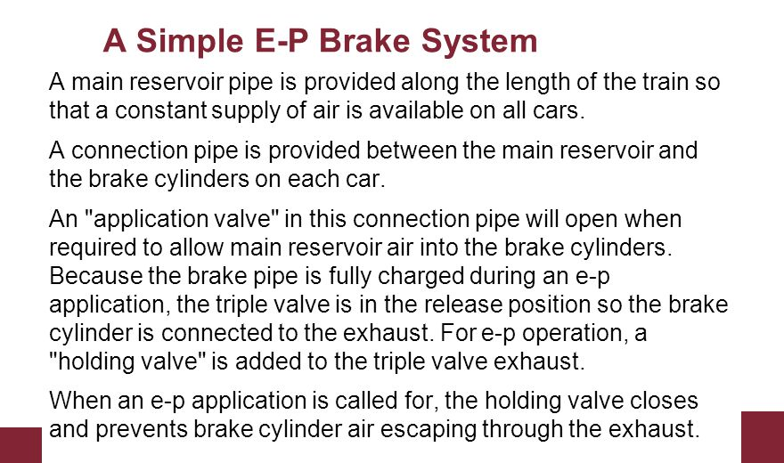 A Simple E-P Brake System