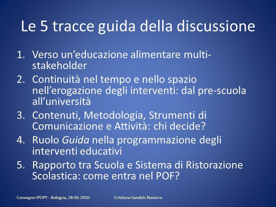 Le 5 tracce guida della discussione