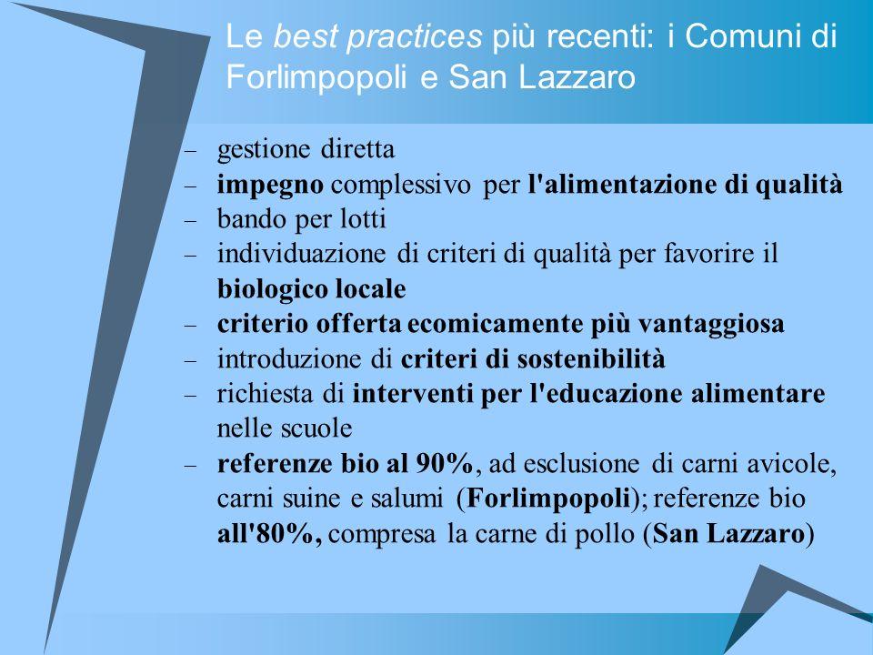 Le best practices più recenti: i Comuni di Forlimpopoli e San Lazzaro