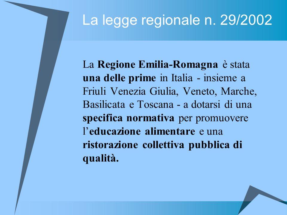 La legge regionale n. 29/2002