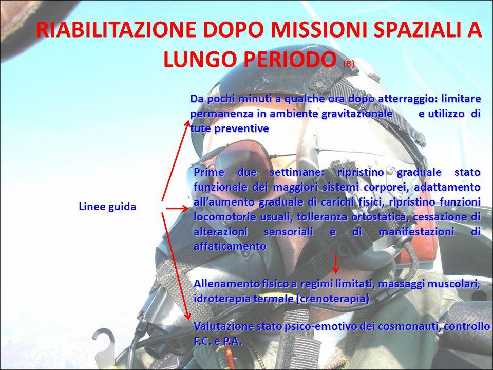 RIABILITAZIONE DOPO MISSIONI SPAZIALI A LUNGO PERIODO (B)