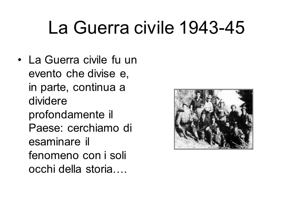 La Guerra civile 1943-45