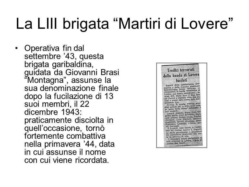 La LIII brigata Martiri di Lovere