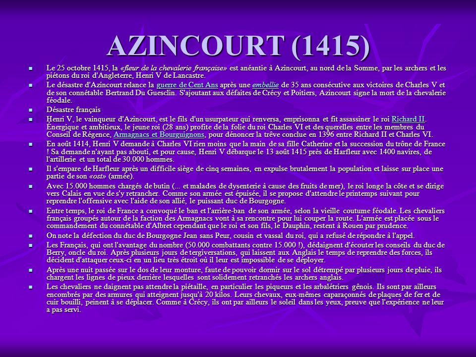 AZINCOURT (1415)