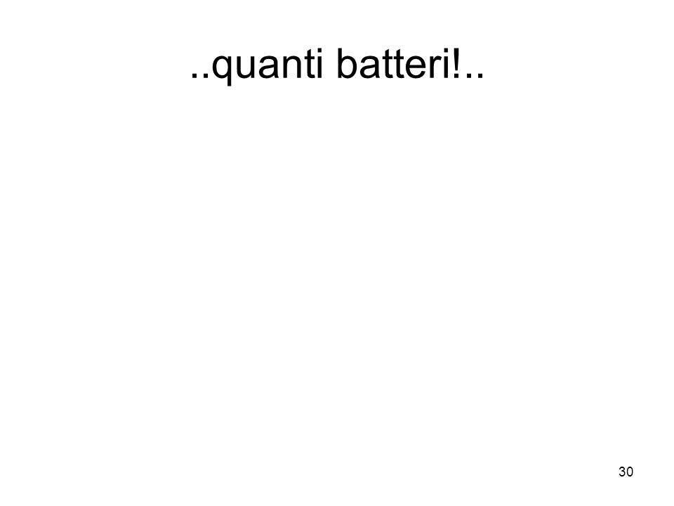 ..quanti batteri!..