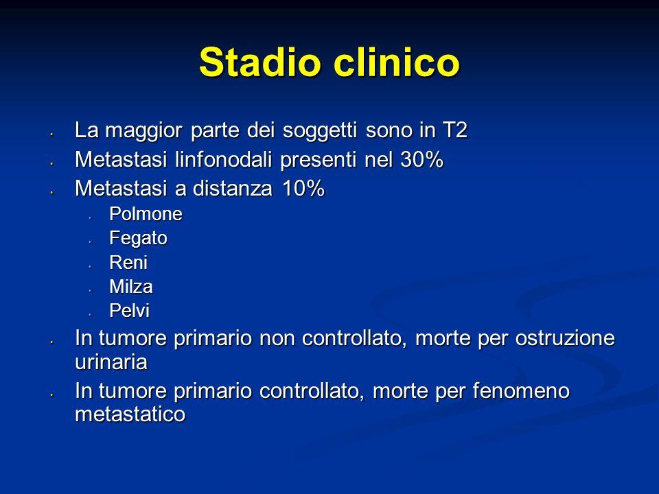Stadio clinico La maggior parte dei soggetti sono in T2