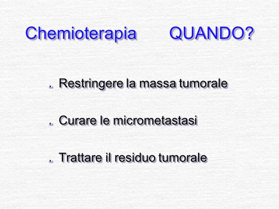 Chemioterapia QUANDO Restringere la massa tumorale