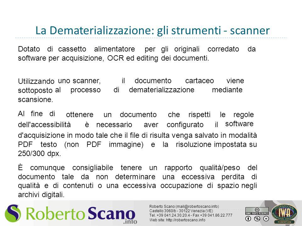 La Dematerializzazione: gli strumenti - scanner