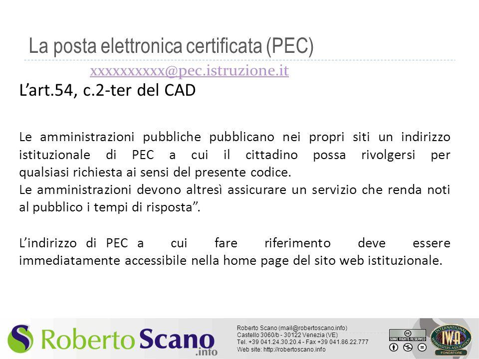 La posta elettronica certificata (PEC)