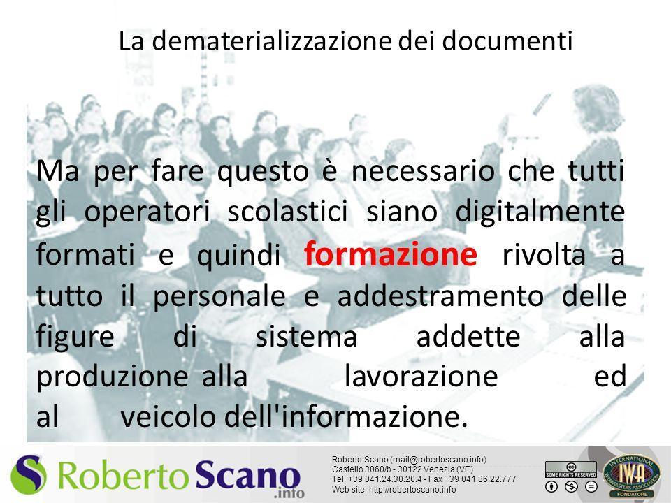 La dematerializzazione dei documenti