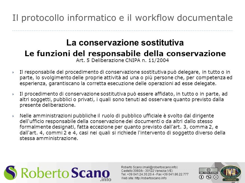 Il protocollo informatico e il workflow documentale
