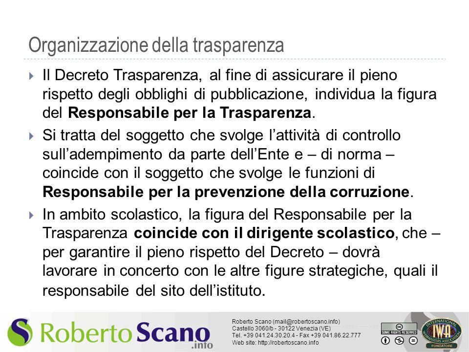 Organizzazione della trasparenza