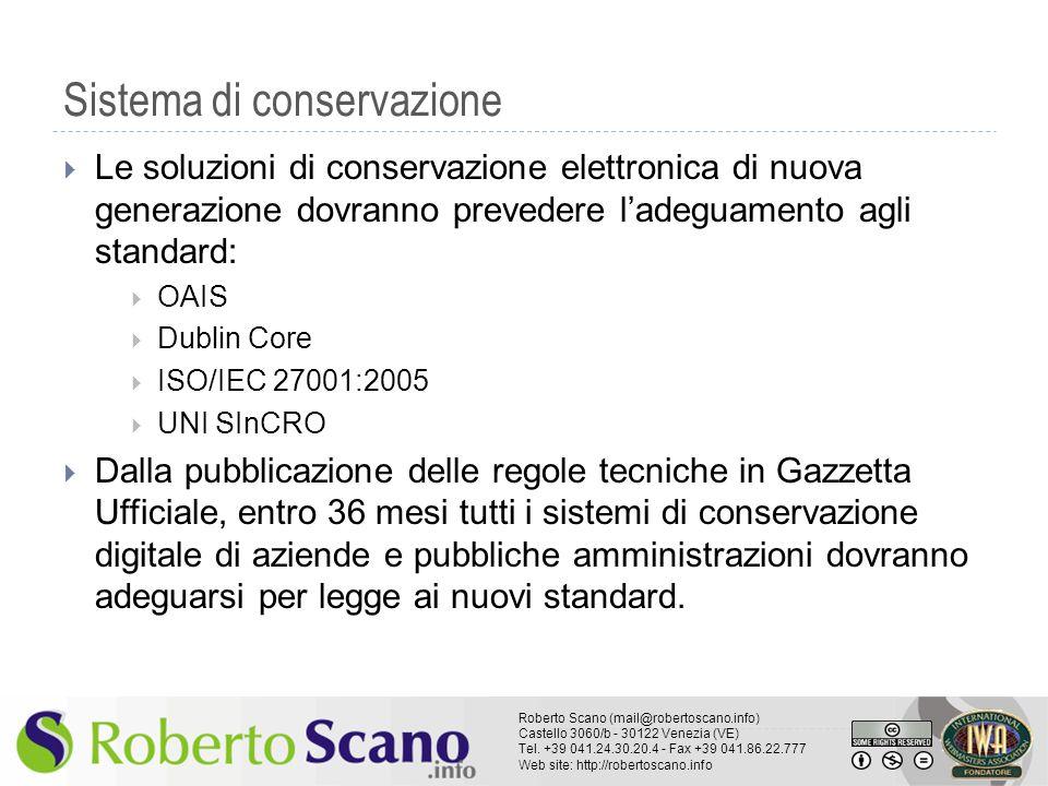 Sistema di conservazione
