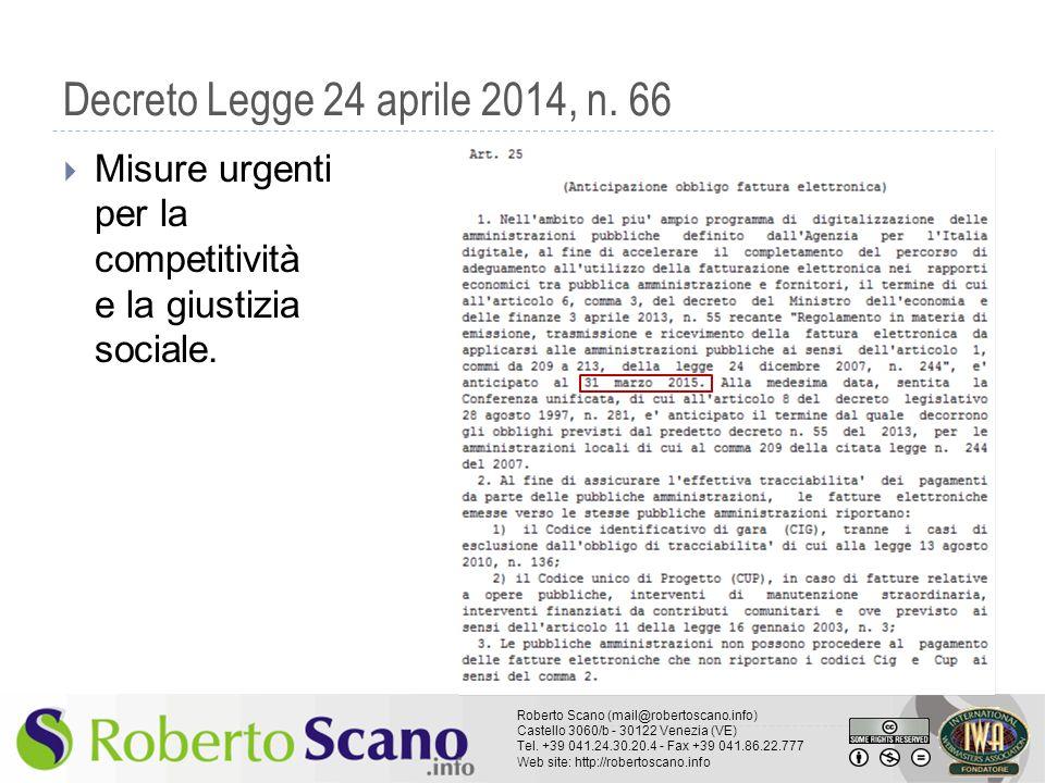 Decreto Legge 24 aprile 2014, n.