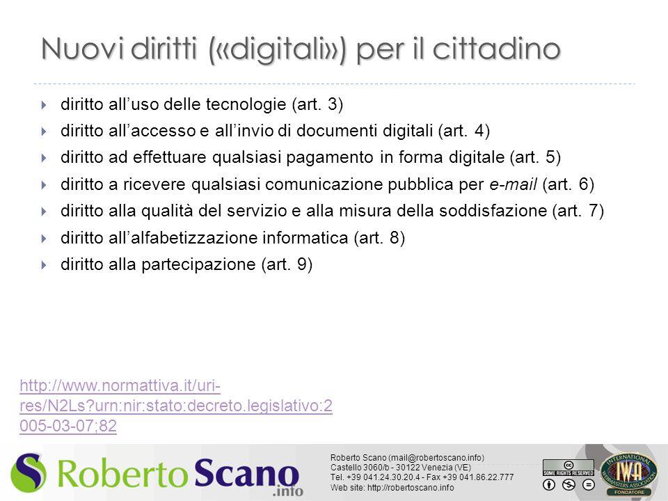 Nuovi diritti («digitali») per il cittadino