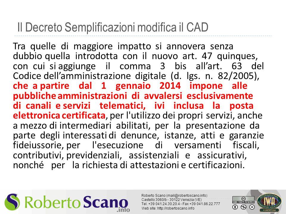 Il Decreto Semplificazioni modifica il CAD