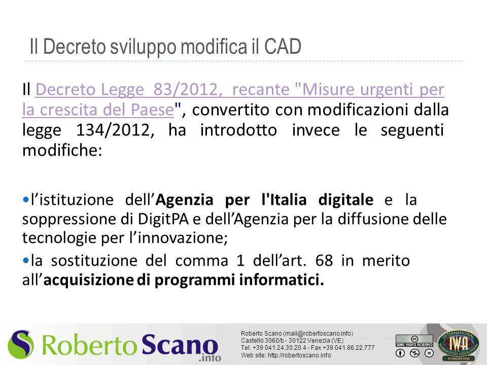 Il Decreto sviluppo modifica il CAD