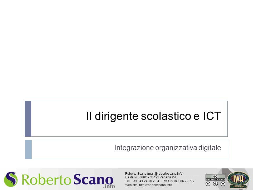 Il dirigente scolastico e ICT