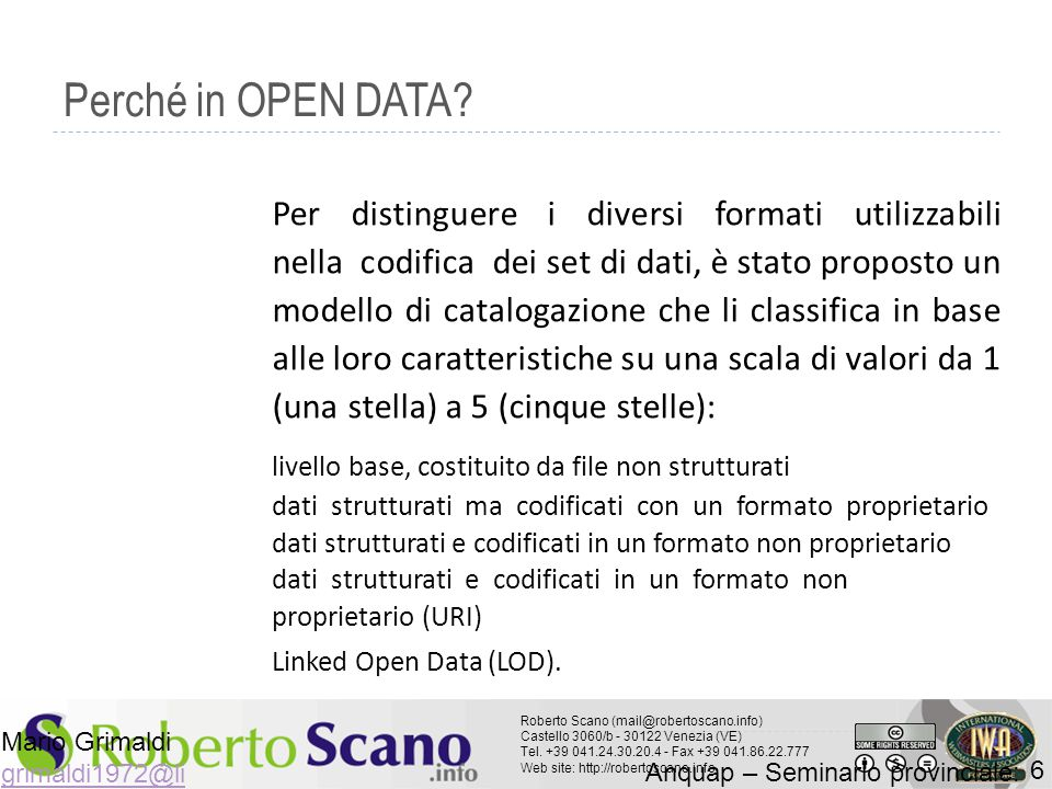 Perché in OPEN DATA