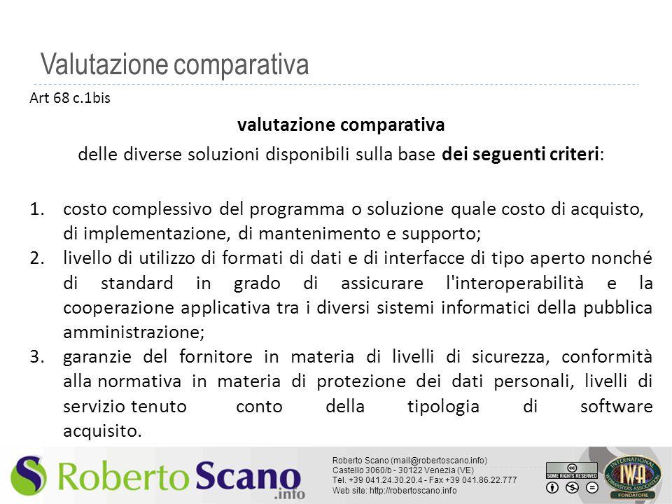 Valutazione comparativa