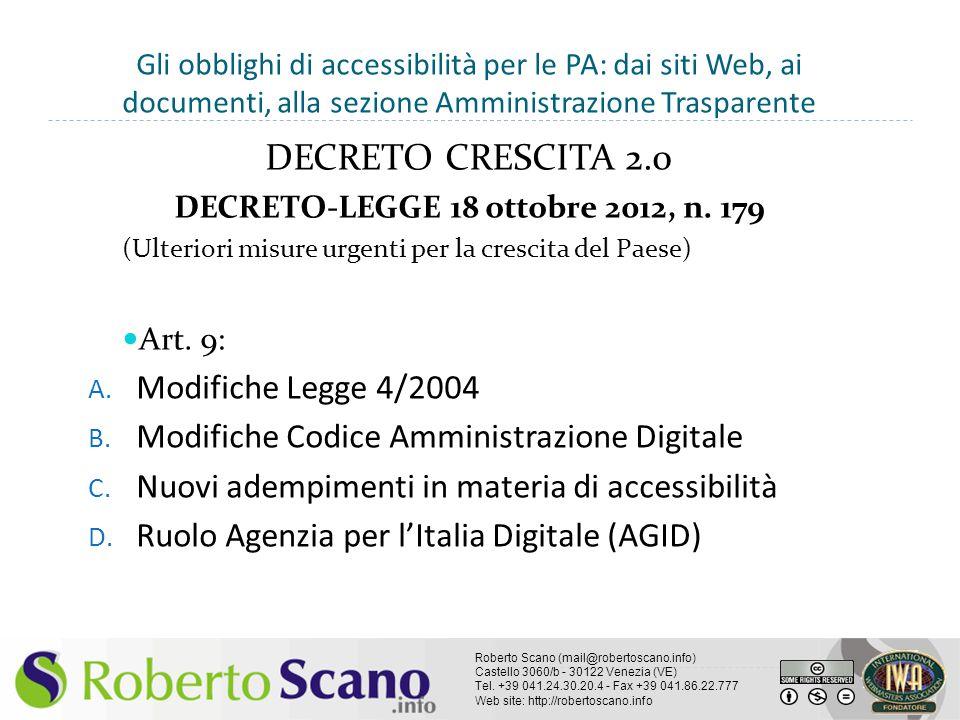 DECRETO-LEGGE 18 ottobre 2012, n. 179