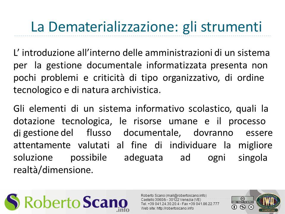 La Dematerializzazione: gli strumenti