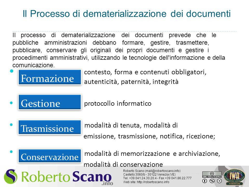 Formazione Gestione Il Processo di dematerializzazione dei documenti