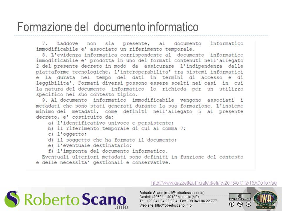 Formazione del documento informatico