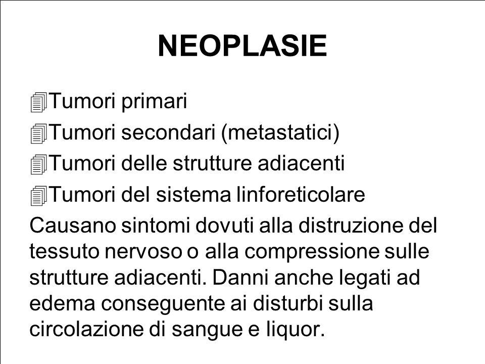 NEOPLASIE Tumori primari Tumori secondari (metastatici)