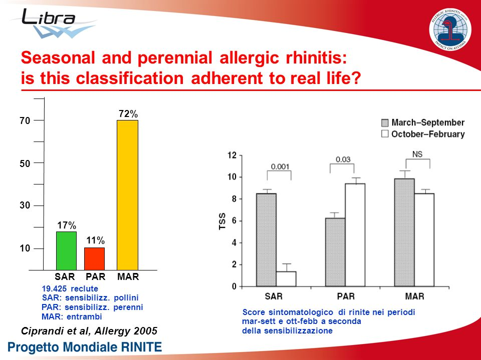 Seasonal and perennial allergic rhinitis: is this classification adherent to real life