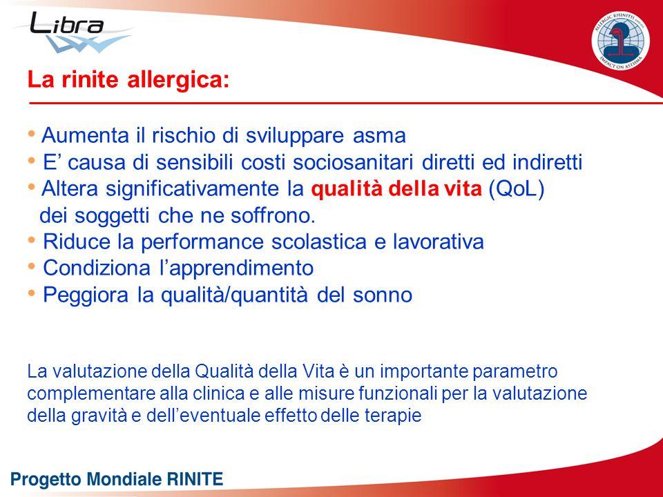 La rinite allergica: Aumenta il rischio di sviluppare asma