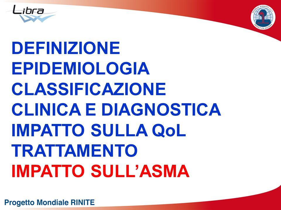 DEFINIZIONEEPIDEMIOLOGIA.CLASSIFICAZIONE. CLINICA E DIAGNOSTICA.