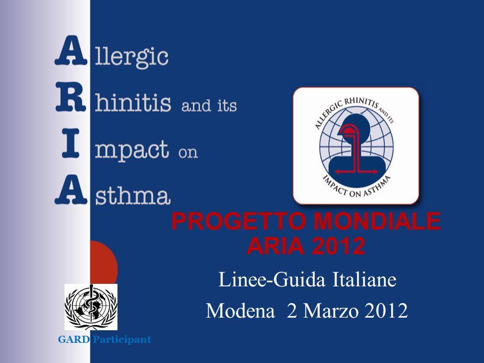 PROGETTO MONDIALE ARIA 2012