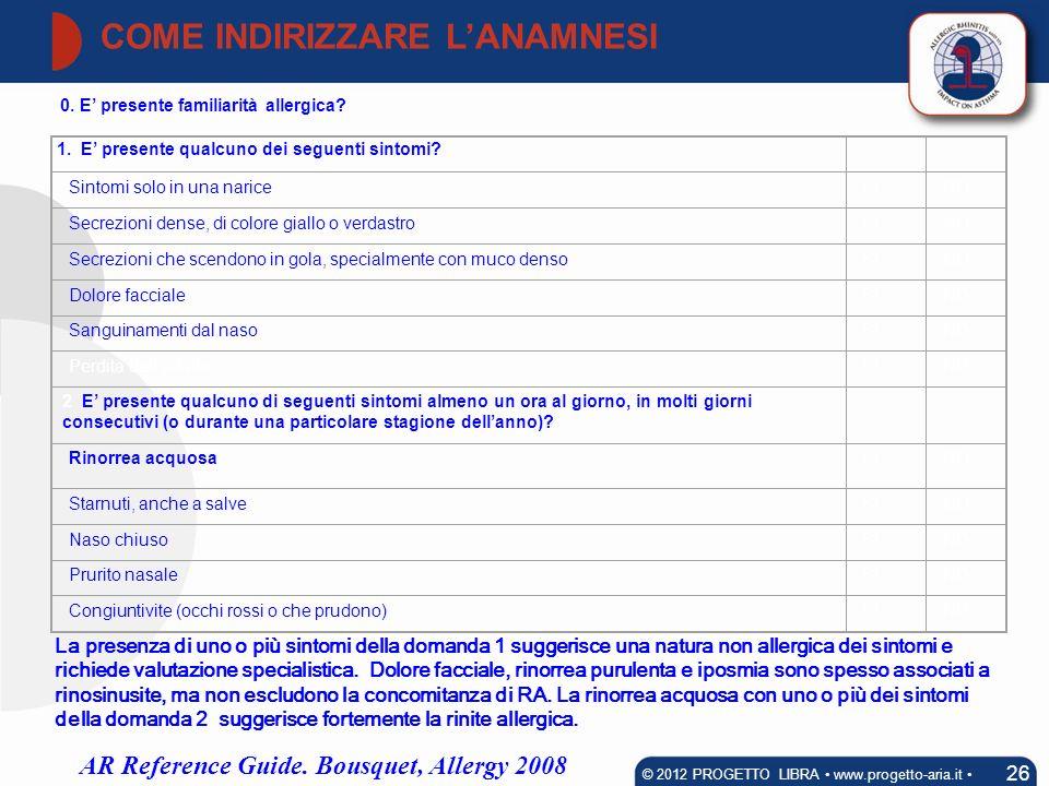 COME INDIRIZZARE L'ANAMNESI