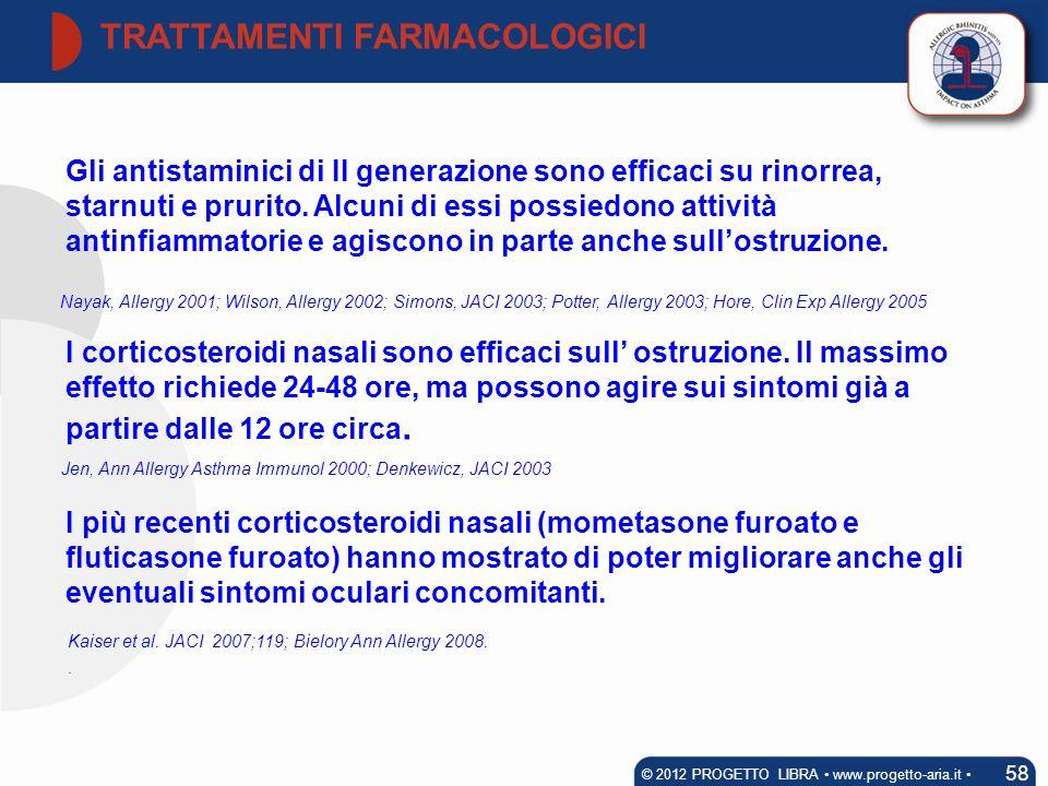 TRATTAMENTI FARMACOLOGICI