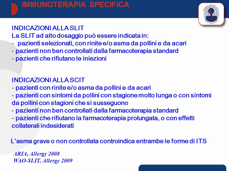 IMMUNOTERAPIA SPECIFICA