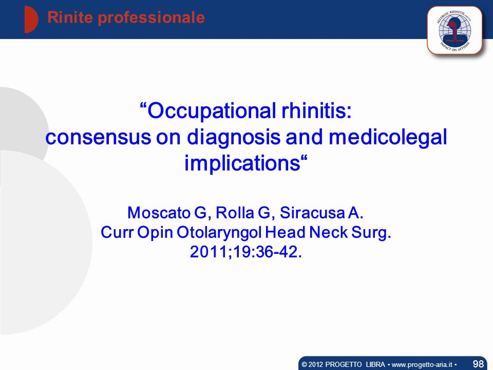 Occupational rhinitis: