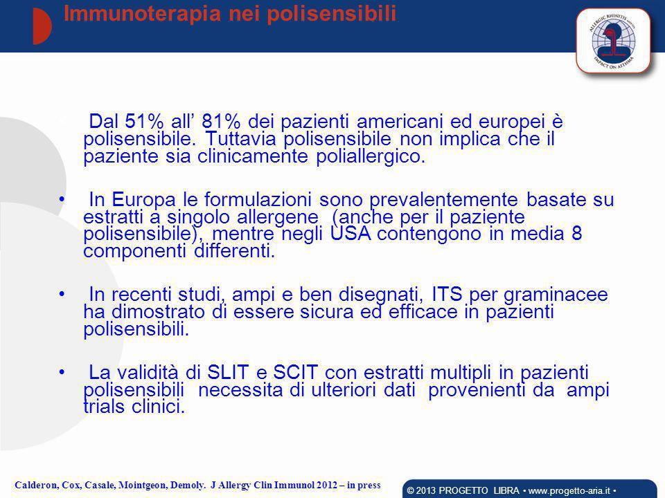 Immunoterapia nei polisensibili