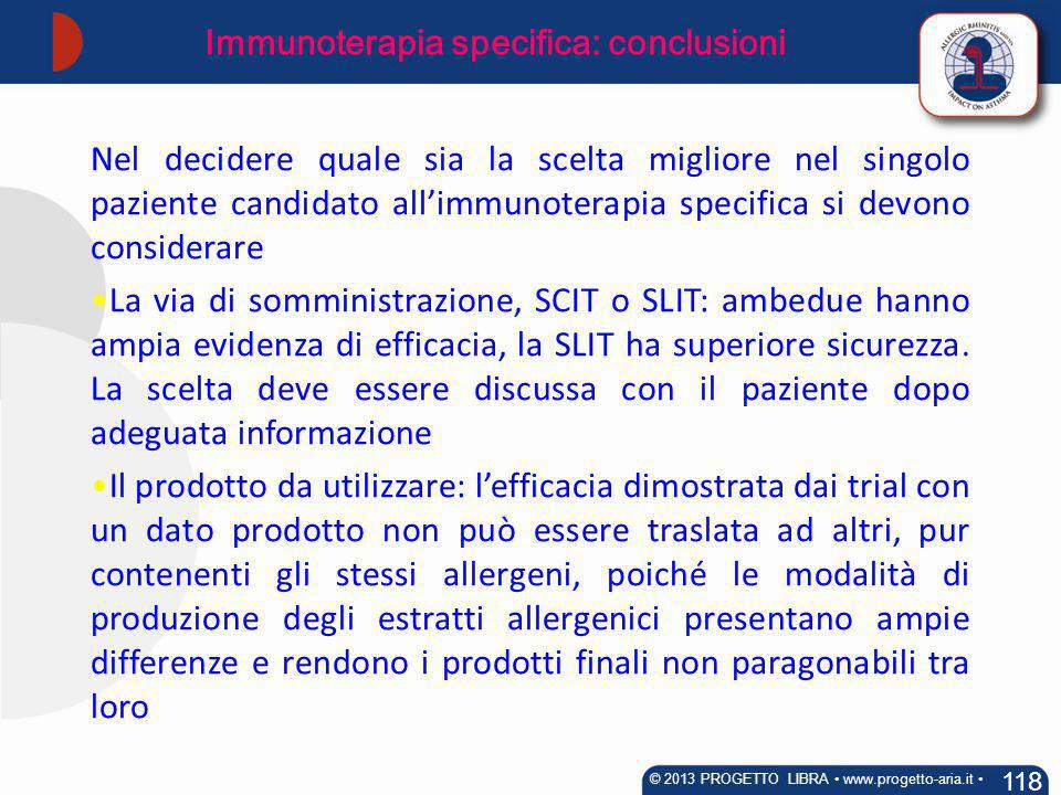 Immunoterapia specifica: conclusioni