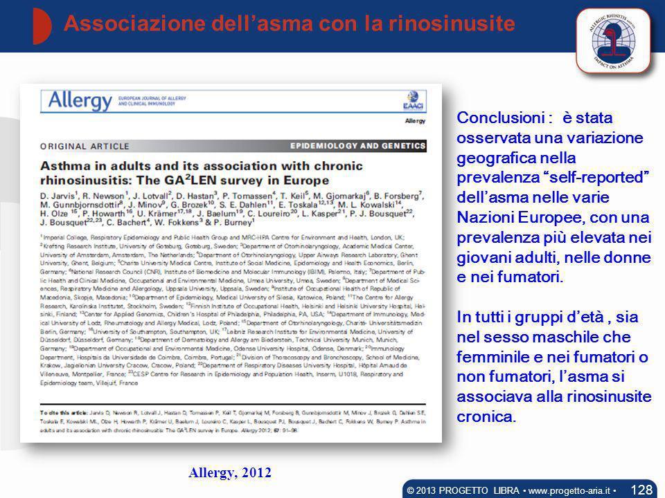 Associazione dell'asma con la rinosinusite