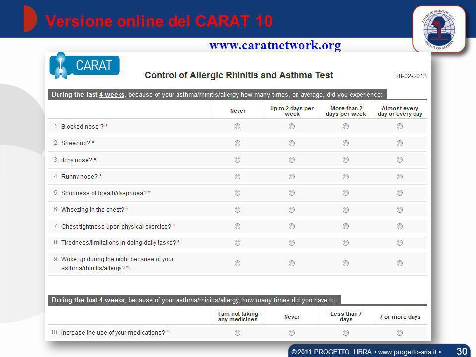 Versione online del CARAT 10
