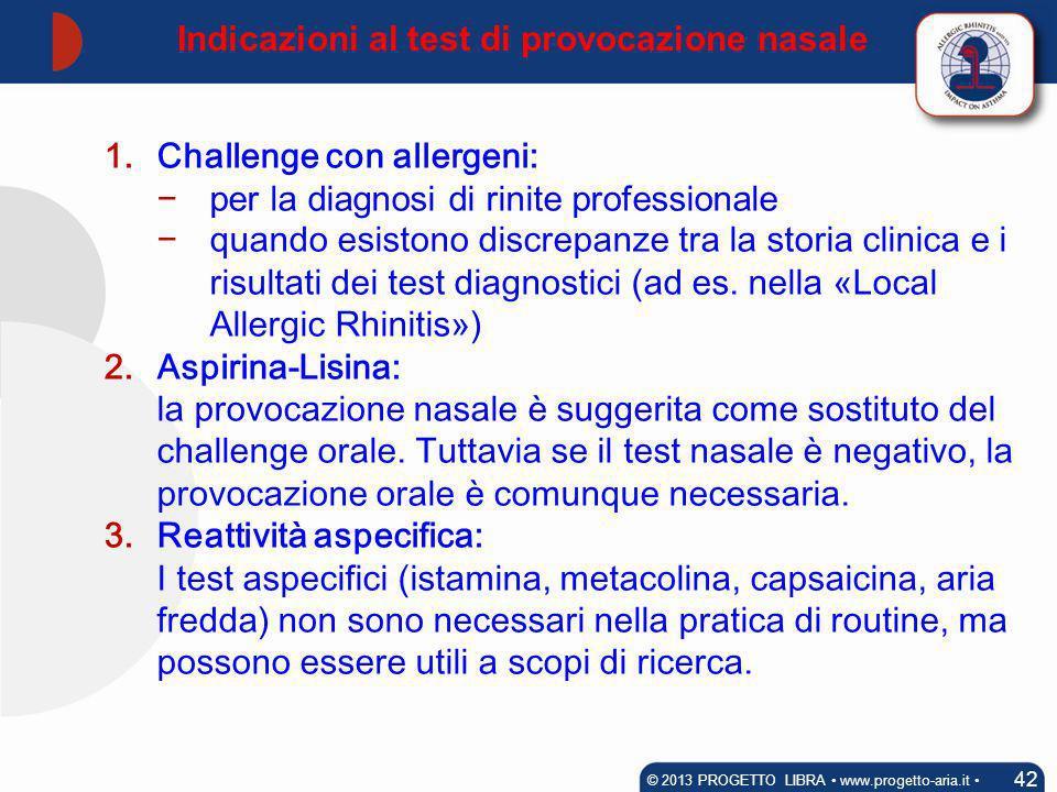 Indicazioni al test di provocazione nasale