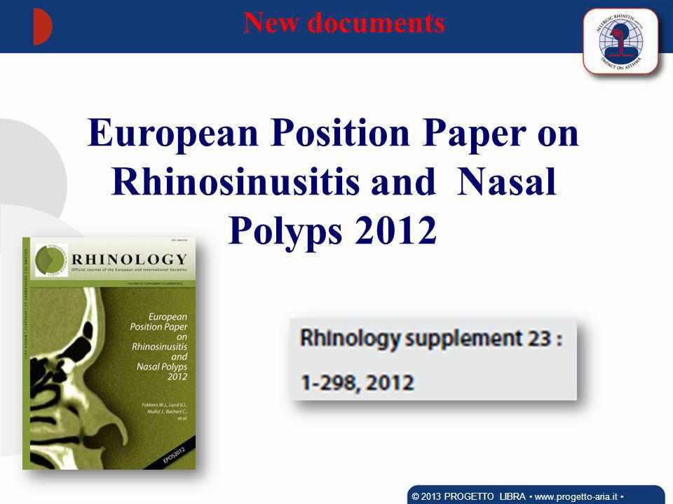 European Position Paper on Rhinosinusitis and Nasal Polyps 2012