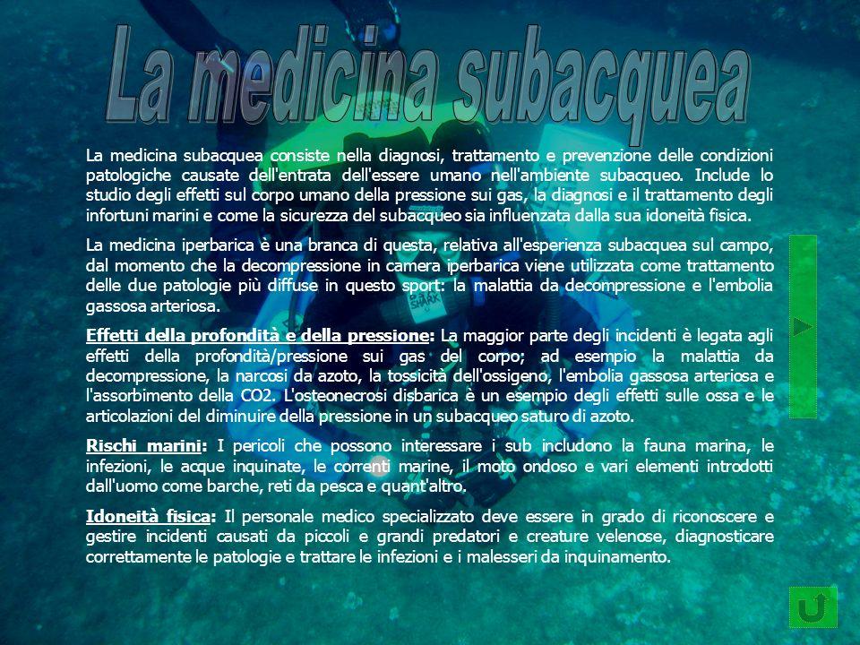 La medicina subacquea