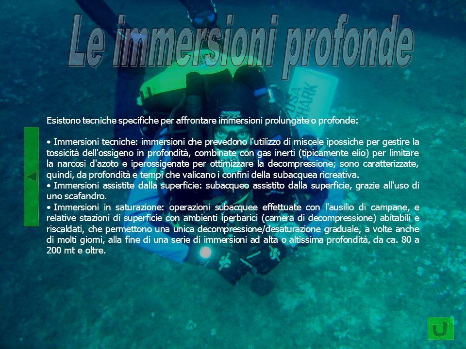 Le immersioni profonde